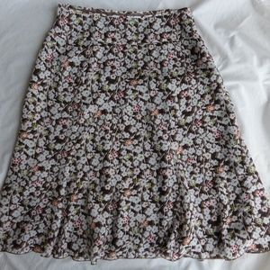 Christopher Banks Skirt Floral Pattern Size 10